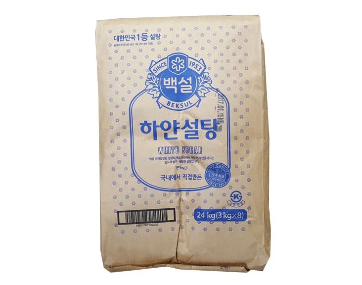 백설)하얀설탕3kg*8-box