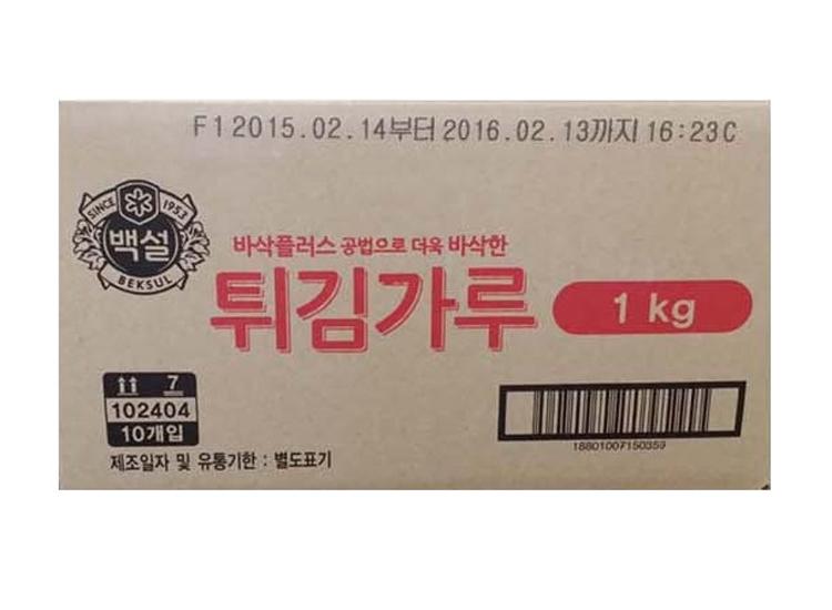 백설)튀김가루1kg*10-box