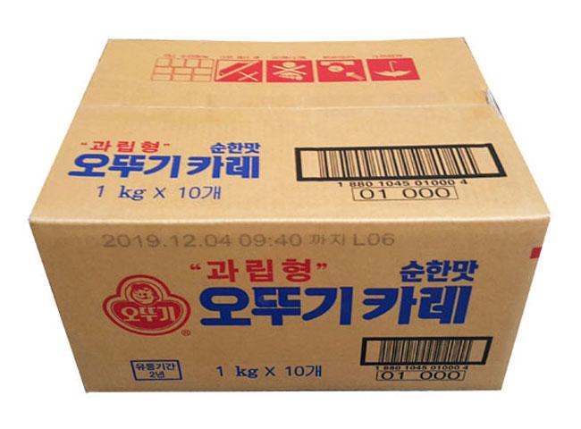 오뚜기)카레순한맛1kg*10-box