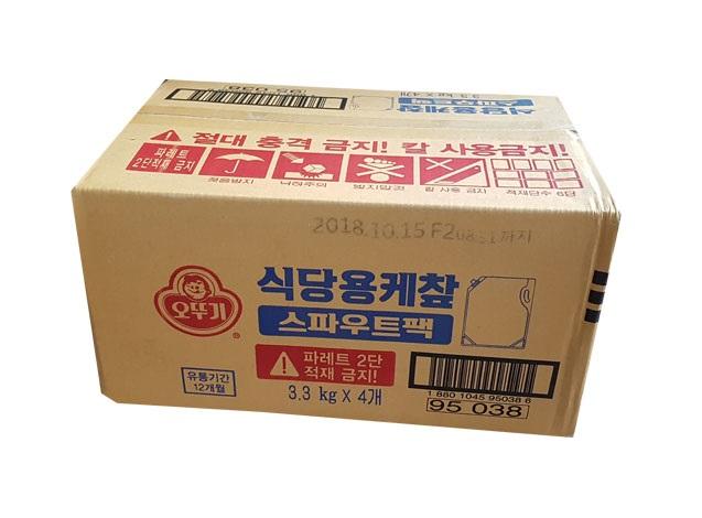 오뚜기)식당용케찹3.3kg*4(스파우트팩)-box