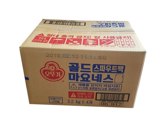 오뚜기)골드마요네즈3.2kg*4(스파우트팩)-box