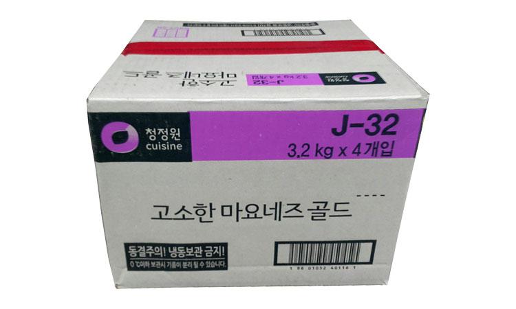 청정원)고소한마요네즈3.2kg*4(스파우트팩)-box