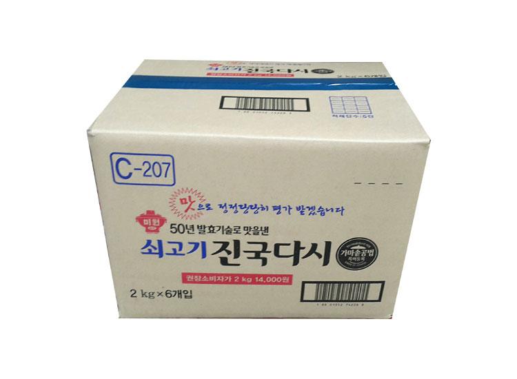 청정원)쇠고기진국다시2kg*6-box