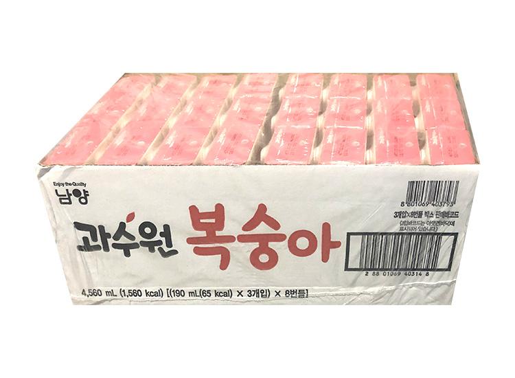 남양)과수원복숭아190ml*3*8-box