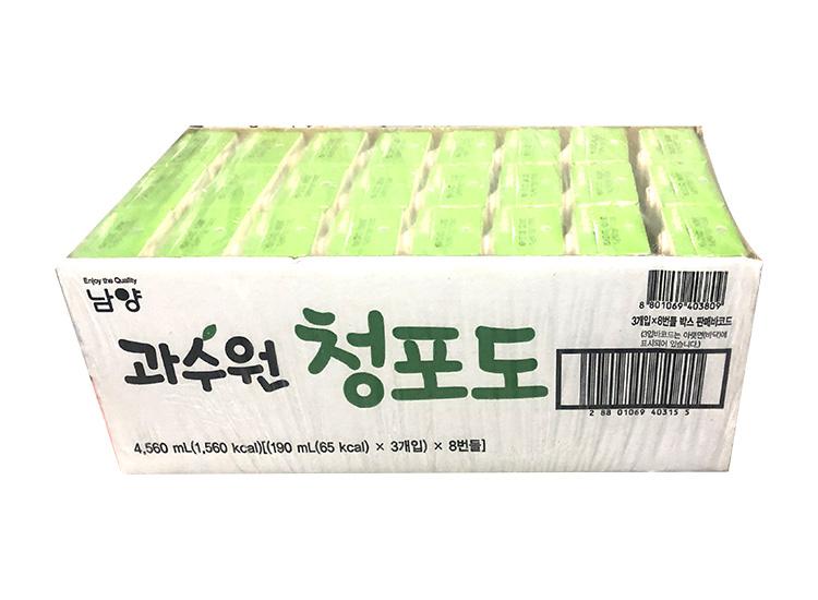 남양)과수원청포도190ml*3*8-box
