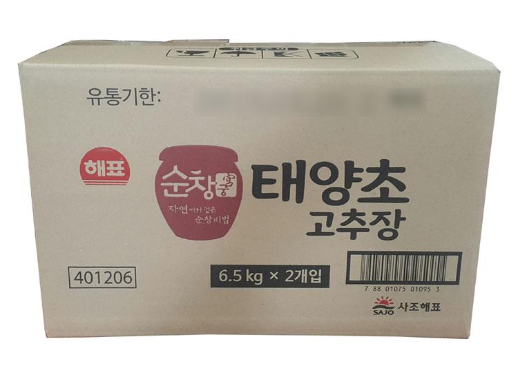 사조해표)순창궁태양초고추장6.5kg-box