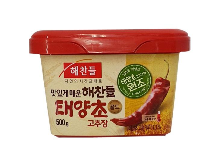 해찬들)태양초골드고추장500g사각(밀)