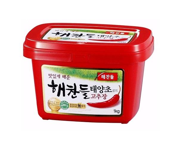 해찬들)태양초골드고추장1kg사각(밀)