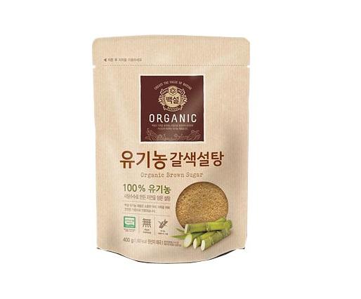 백설)유기농갈색설탕400g