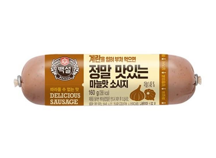 백설)정말맛있는마늘맛소시지160g