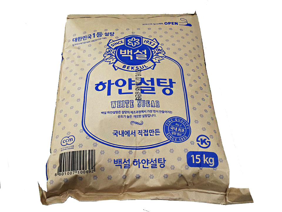백설)하얀설탕15kg(파)
