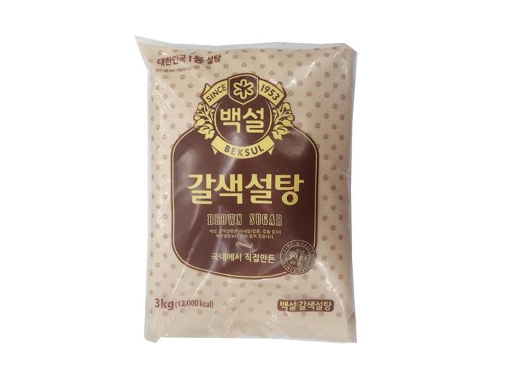 백설)갈색설탕3kg
