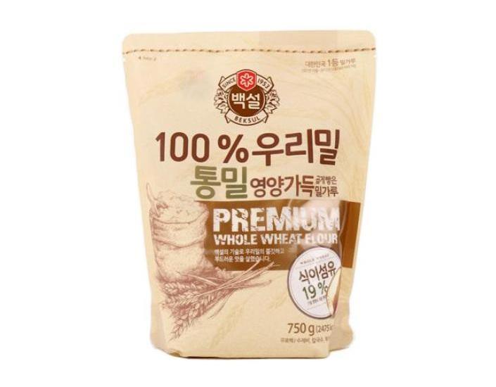 백설)우리밀통밀가루750g