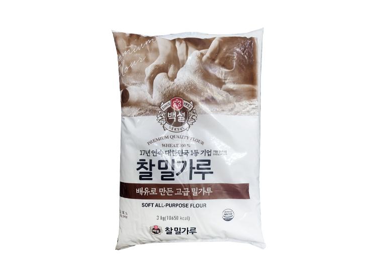 백설)찰밀가루3kg