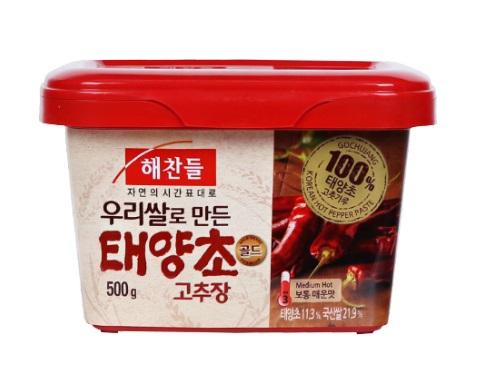 해찬들)태양초골드고추장500g사각(쌀)