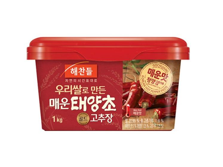 해)우리쌀태양초매운고추장1kg사각