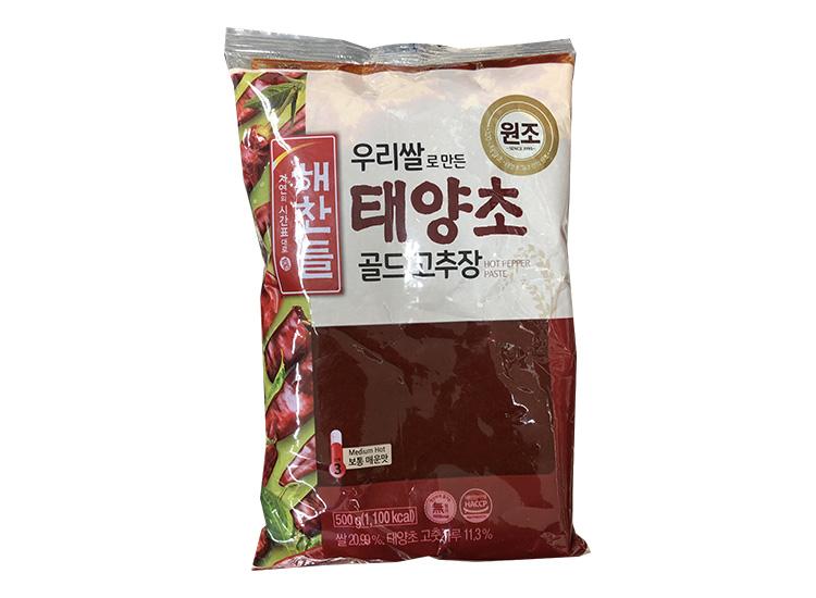 해찬들)태양초골드고추장500g봉(쌀)