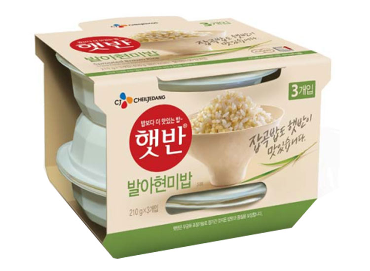백설)햇반발아현미밥210g*3
