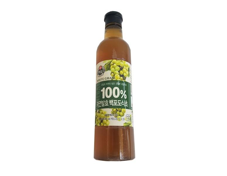 백설)100%자연발효백포도식초800ml