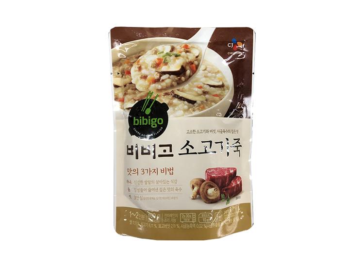백설)비비고소고기죽450g