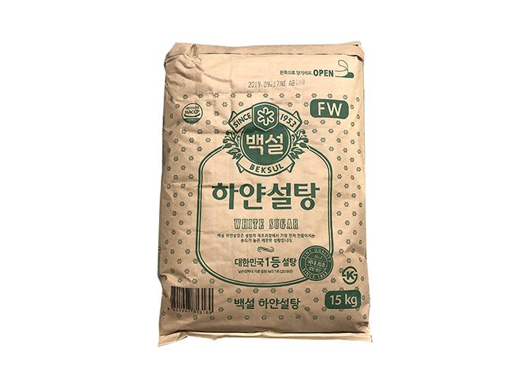 백설)하얀설탕15kg(초록)