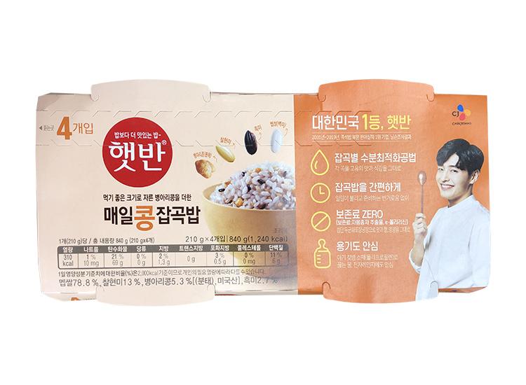 백설)햇반매일콩잡곡밥210g*4