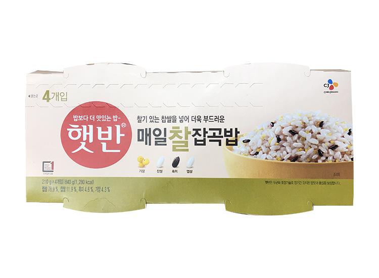 백설)햇반매일찰잡곡밥210g*4