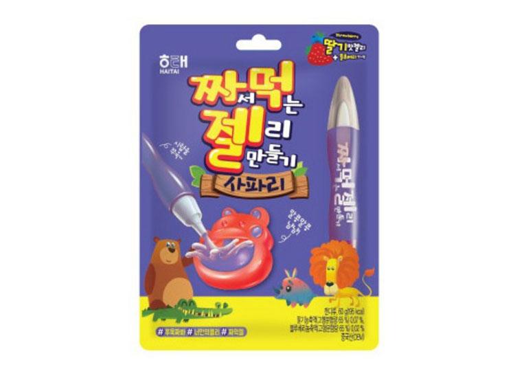 해태)짜서먹는젤리만들기사파리60g