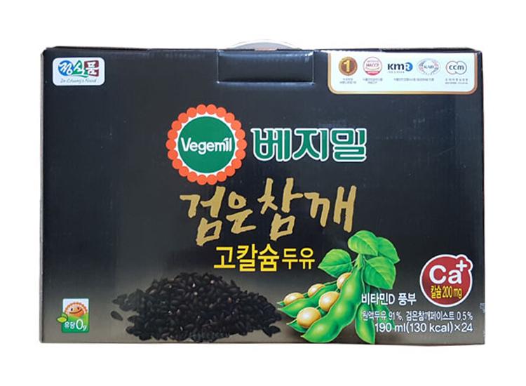 베지밀)검은참깨고칼슘두유190ml*24입