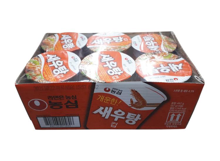 농심)새우탕컵67g*6-box