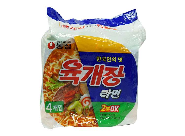 농심)육개장멀티116g*4