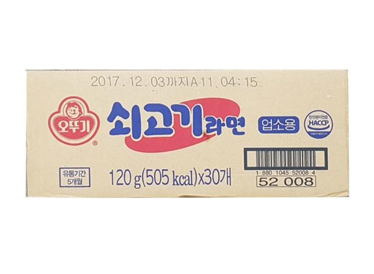 오뚜기)쇠고기라면업소용120g-box
