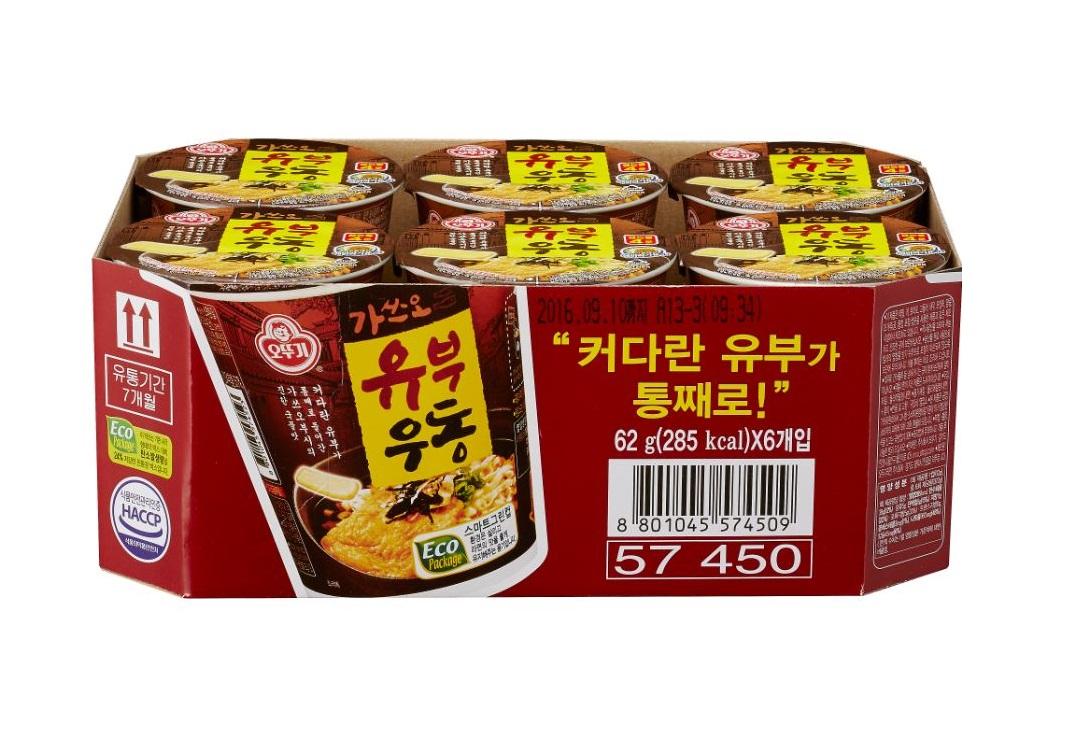 오뚜기)가쓰오유부우동컵62g*6-box