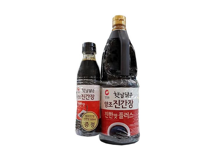 청정원)양조진간장진한맛플러스1.7L 500ml