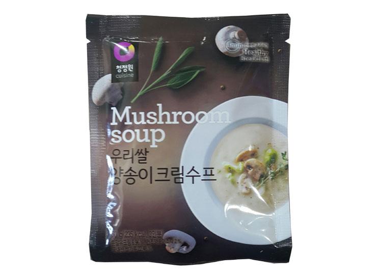 청정원)우리쌀양송이크림수프60g