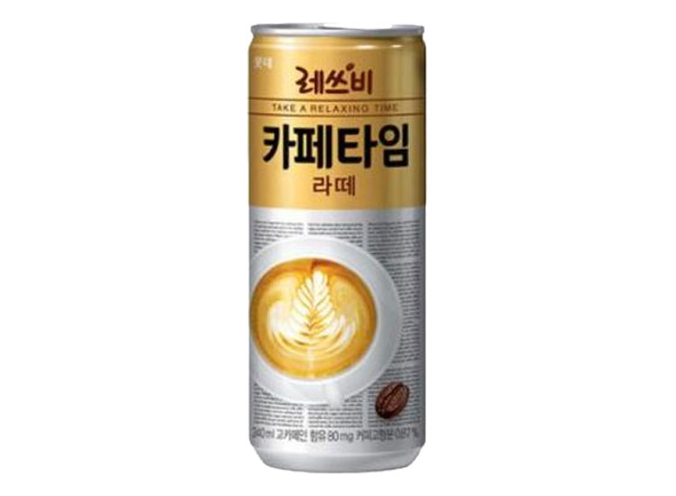 롯데)레쓰비카페타임라떼240캔