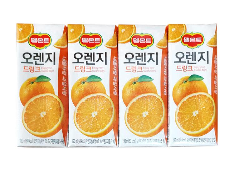 델몬트)오렌지드링크190ml*4