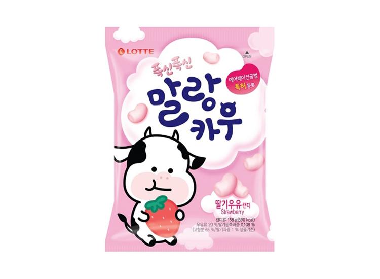 롯데)5000말랑카우딸기158g