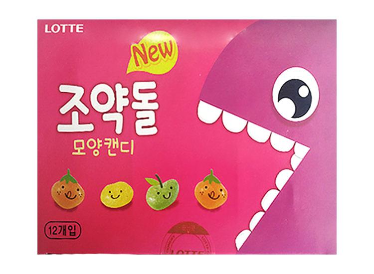 롯데)1000뉴조약돌모양캔디32g