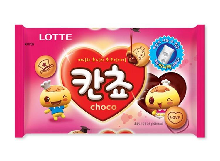 롯데)3600칸쵸(초코)216g