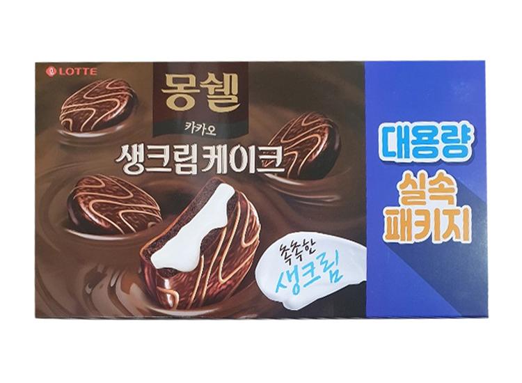 롯데)몽쉘카카오4갑(24봉)768g