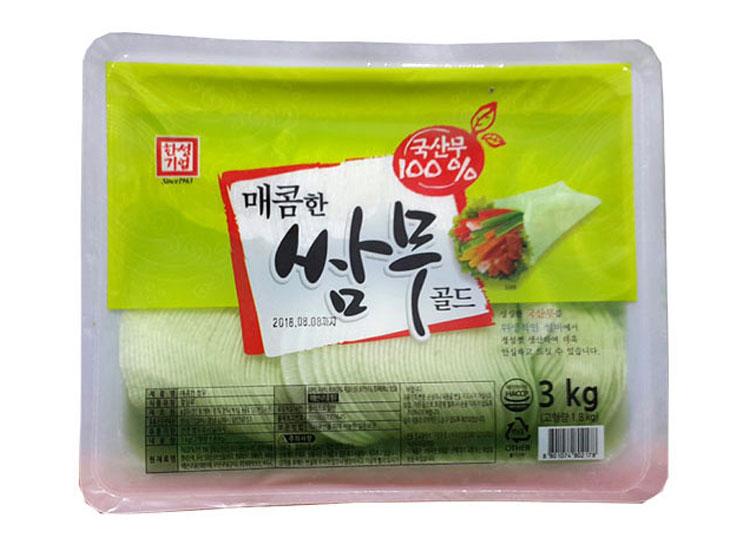 한성)매콤한쌈무(와사비)3kg