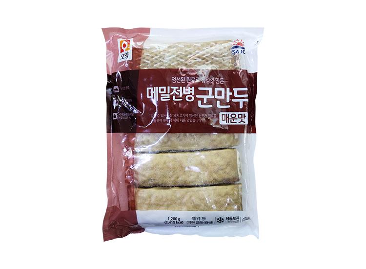 사조오양)매콤메밀전병군만두1.2kg