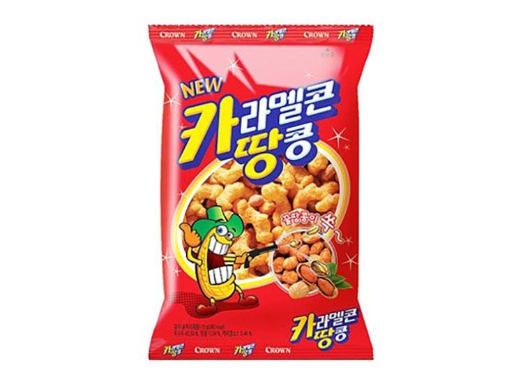 크라운)카라멜콘땅콩72g