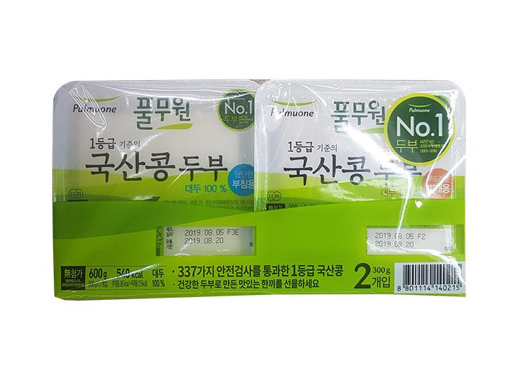풀무원)국산콩두부부침300 찌개300