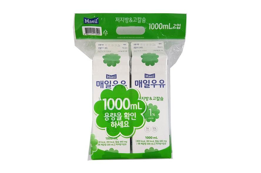매일)저지방고칼슘1%기획1000ml*2