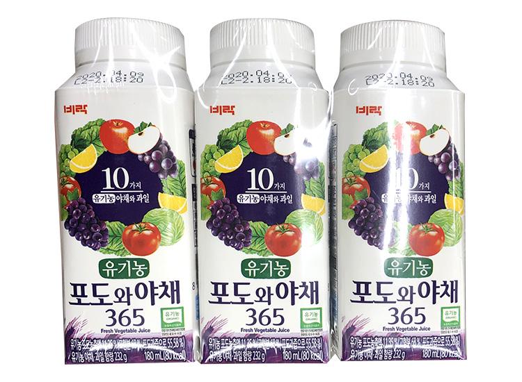 비락)포도와야채190ml*3