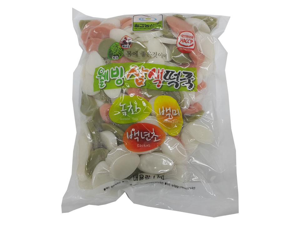 칠갑)웰빙삼색떡국1kg(국산)