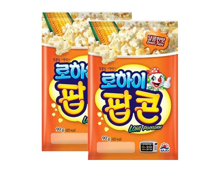 사조해표)로하이팝콘달콤한맛90g*2