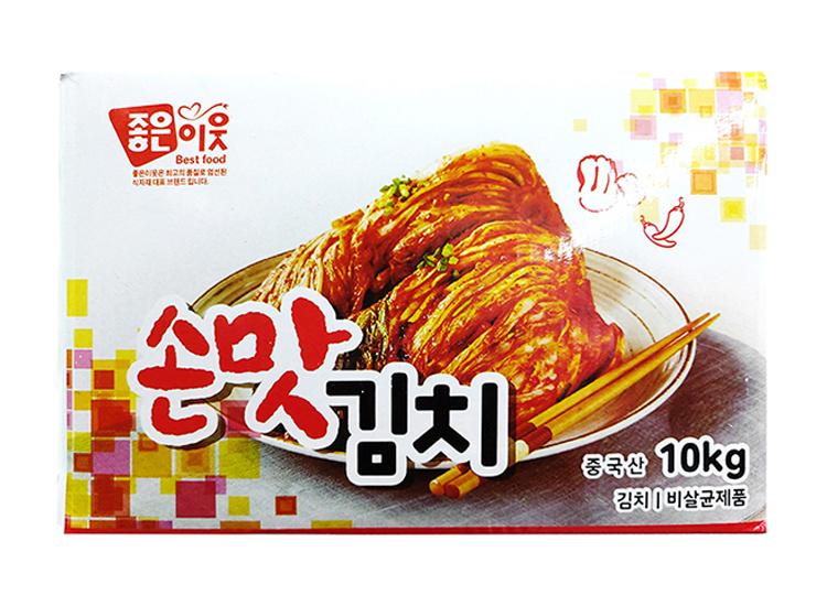 좋은이웃)손맛김치10kg(수입산)